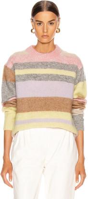 Acne Studios Kalbah Mohair Sweater in Lilac & Yellow Multi | FWRD
