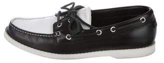 Saint Laurent 2013 Two-Tone Leather Boat Shoes