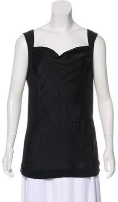 Philosophy di Alberta Ferretti Draped Sleeveless Top