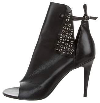 Tamara Mellon Embellished Peep-Toe Ankle Boots