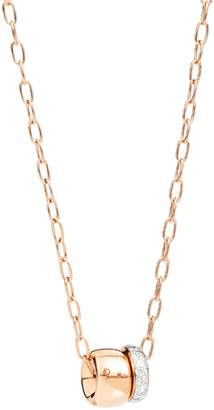 Pomellato Rose Gold and Pavé Diamond Necklace