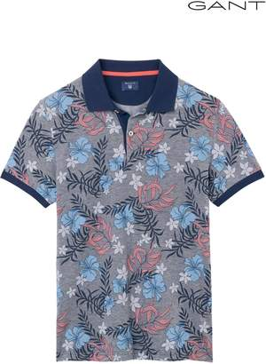Next Mens GANT Multiflower Pique Short Sleeved Poloshirt