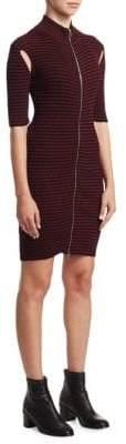 McQ Striped Bodycon Dress