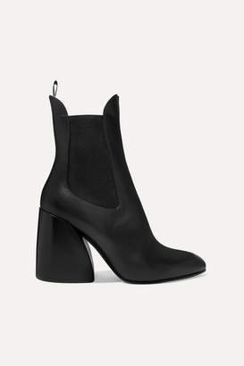 Chloé Wave Leather Ankle Boots - Black