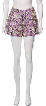 Giamba Brocade Mini Shorts