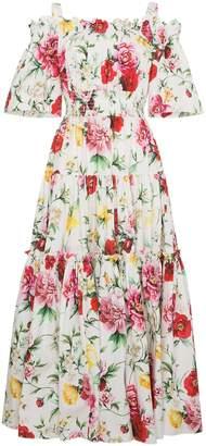 Dolce & Gabbana Floral Off The Shoulder Dress