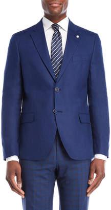 Nautica Bright Navy Briella Linen Suit Jacket