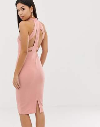 2fdf856772 High Neck Bodycon Dress Ax Paris - ShopStyle UK
