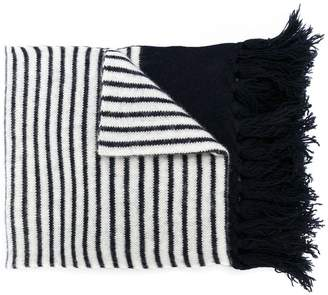 Piombo Mp Massimo striped fringed scarf