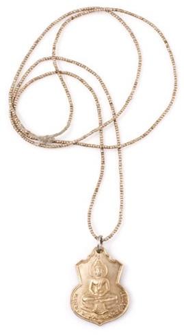 Vanessa Mooney Buddha Amulet in Gold
