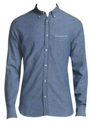 Officine Generale Chambray Button Down Shirt
