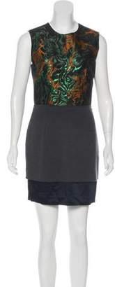 Cédric Charlier Silk-Blend Mini Dress