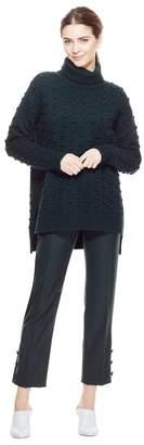 Lela Rose Dotted Knit Turtleneck