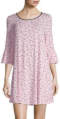 Kate Spade Bow Three-Quarter Sleeve Sleepshirt
