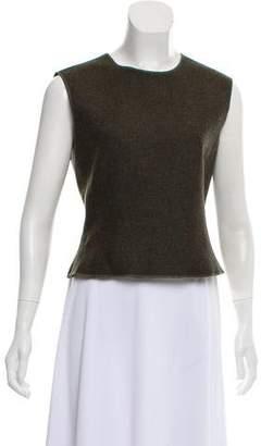 Miu Miu Tweed Sleeveless Top