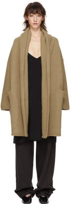 LAUREN MANOOGIAN Tan Capote Hooded Cardigan