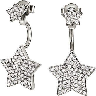 Folli Follie Fashionably silver star ear jacket studs