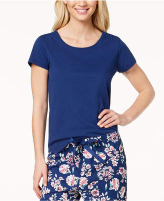 Charter Club Cotton Short-Sleeve Soft Knit Pajama Top, Created for Macy's
