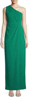 Calvin Klein One-Shoulder Ruched Gown