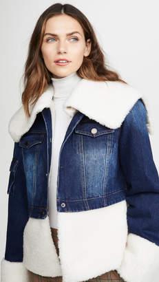 Jocelyn You Can't Deny Me Denim & Faux Sherpa Jacket