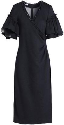 Oscar de la Renta Ruffled Woven Midi Dress