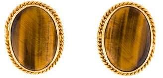 21K Tiger's Eye Earrings