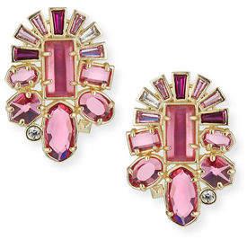 Kendra Scott Huckaby Crystal Statement Earrings in Rose-Tone Plate rpe7Yx23