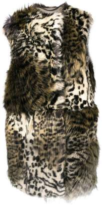 Stella McCartney faux fur sleeveless coat