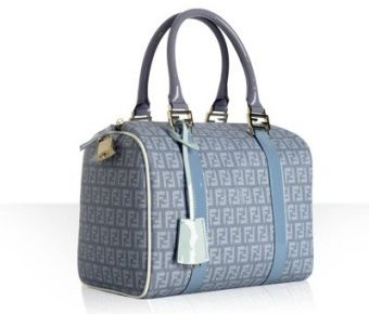 Fendi light blue spalmati zucchino 'Forever' small bowler bag