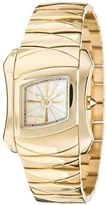 Pierre Cardin Papillon Women's Quartz Watch with Mother Of Pearl Dial Analogue Display and Gold Stainless Steel Bracelet PC102112F02