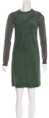 Ralph Lauren Cashmere & Suede Dress
