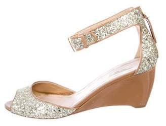 Miu Miu Patent Leather Ankle Strap Sandals