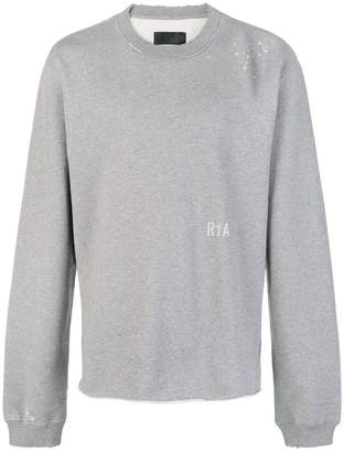 RtA distressed severed hem sweatshirt