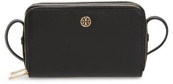 Tory Burch Mini Parker Leather Crossbody Bag - Black