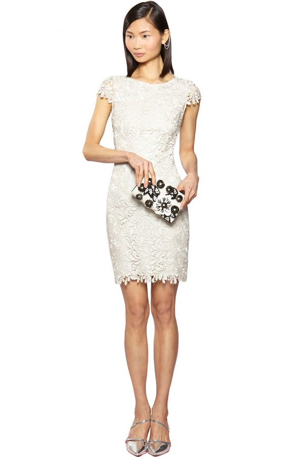 Alice + Olivia Clover Fitted Midlength Dress
