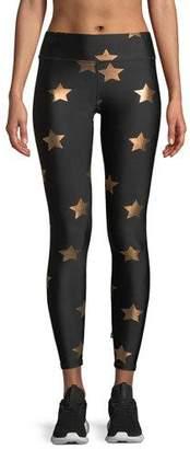 Terez Star Foil Printed Tall Band Performance Leggings