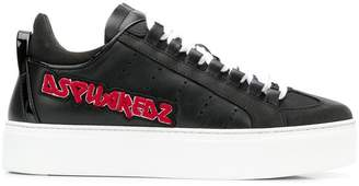 DSQUARED2 logo platform sneakers