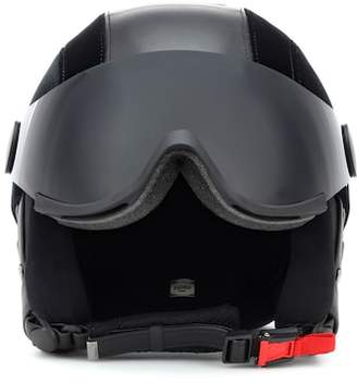 Fendi Faux leather and velvet ski helmet