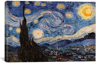 iCanvas icanvasart The Starry Night By Vincent Van Gogh
