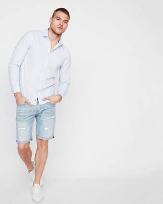 Express Slim Soft Wash Striped Button Down Shirt