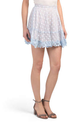 Juniors Australian Designed Lace Polka Dot Mini Skirt