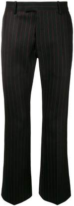 Alexander McQueen pinstriped flared trousers
