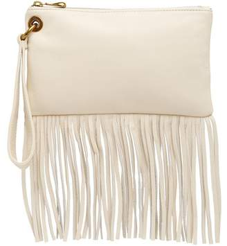Hobo Flutter Leather Fringe Wristlet
