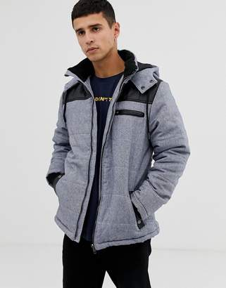 Another Influence Zip Through Hooded Quilted Jacket
