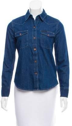 Calvin Klein Jeans Long Sleeve Denim Top w/ Tags
