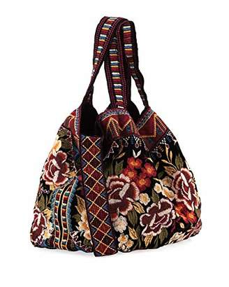 Johnny Was Velvet Slouchy Tote