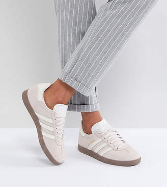 305fe7eafea4 adidas Gazelle Sneakers In Lilac With Dark Gum Sole