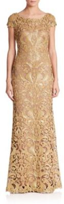 Tadashi Shoji Cord-Embroidered Lace Gown $548 thestylecure.com