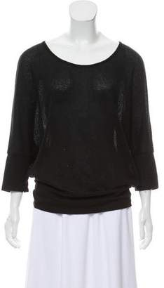 Velvet Short Sleeve Knit Top