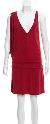 Haute Hippie Asymmetrical Knee-Length Dress
